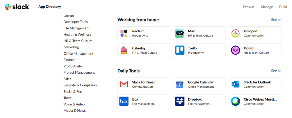 These are the app integrations that Slack implemented to make workspace management easier across platforms.
