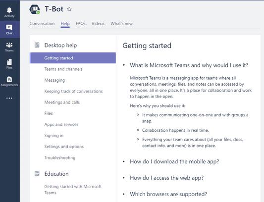 T-Bot MS Teams. Source: techcommunity.microsoft.com